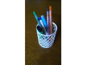 Simple pencil cup/holder, customizable (parametric)
