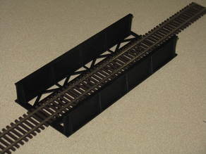 HO Scale Straight Bridge 7.5 Inches