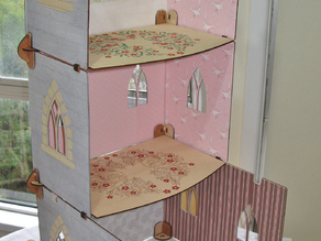 Flat pack dolls castle