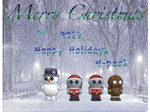 Happy Holiday Dolls 2017 4-Pack