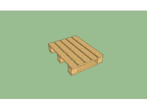 Wooden pallet in common scales