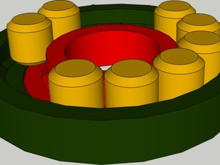 Fully printable 608 roll bearing v2