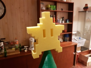8-Bit Mario Star Tree Topper