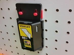 Pegboard Razorblade Dispenser Holder