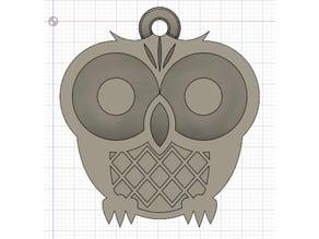 Emoji Owl Keychain