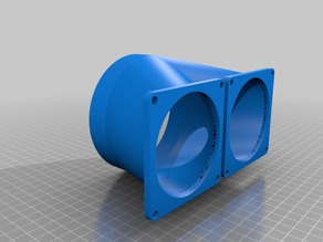 "Dual 80mm fan to 100mm (4"") Dryer Vent"