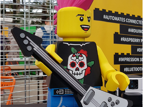 Giant Lego Minifigure : Ponko Punk Rocker