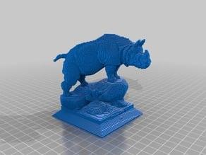 Voxel Rhino Statue