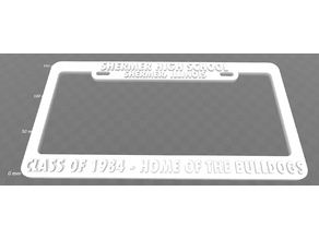 Shermer, Ill. - Class of 1984, Home of the Bulldogs License Plate Frame
