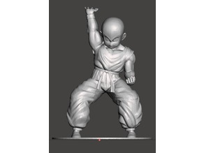 DBZ Krillin With Base Hi-Res