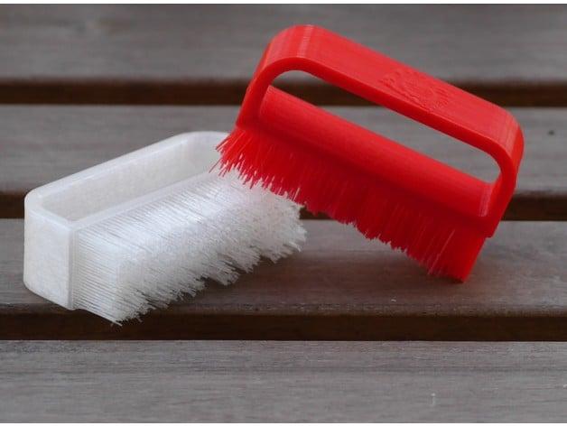 Nail Brush - Fully 3D printed! by Turbo_SunShine - Thingiverse