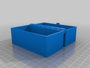 My Customised Hinged Box With Latch, Somewhat Parametric and Printable In One Piece 100mm x 50mm x 35mm