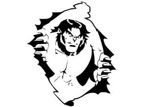 X-Men Beast stencil