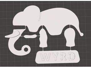 """""""Wyrd"""" Elephant Redo - Compliant Mechanism"""