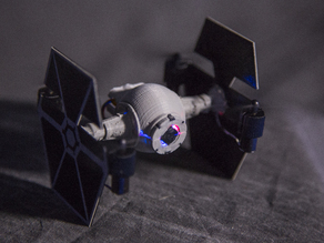 Tie Fighter Quadcopter for the Hubsan x4 H107C