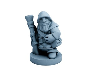 Dwarfclan Gunner (18mm scale)