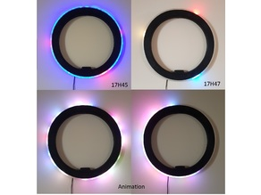Light clock by led