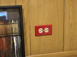Man Cave Outlet Plate - WALLY - Wall Plate Customizer
