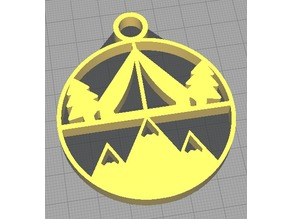 Camp keychain