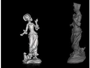statue woman - statua donna - estatua de mujer - statue femme
