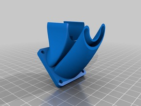 Adjustable 2-in-1 fan duct: extruder and filament cooler for E3D V6