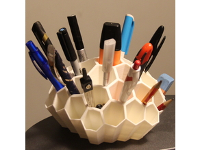 Honeycomb desk organizer