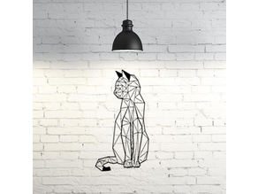 Cat wall sculpture 2D