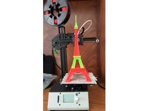 Eiffel Tower 4 Parts for small printers without glue