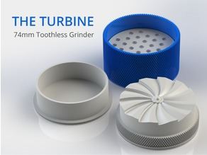 The Turbine - 74mm Toothless Herb Grinder