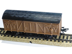 simple carriage in scale H0  the OpenRailway