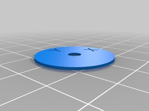 Calibration ring X Y Printed - Oval diagnosis