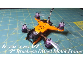 Icarus - A Brushless Micro Offset Quadcopter Frame
