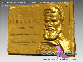 3D Bas-relief of Christo Botev