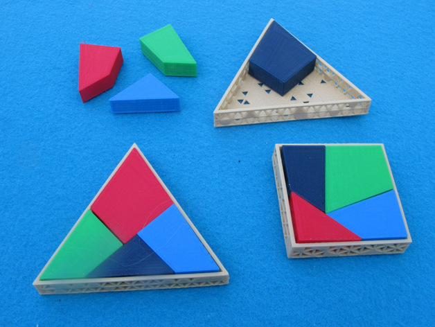 square into triangle puzzle by pmoews thingiverse