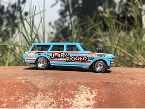 Hot Wheels Chevy Nova Gasser Lowered Chassis