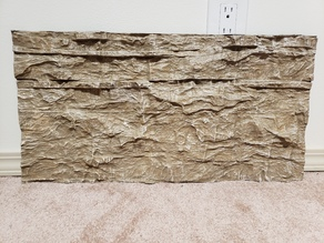 Aquarium Background - Textured Limestone wall - 2x1 foot