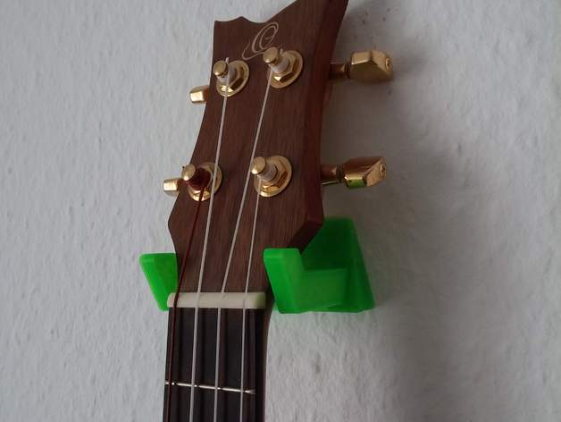 ukulele wall mount with single screw by rootraven thingiverse. Black Bedroom Furniture Sets. Home Design Ideas