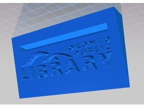 TPL Card Holder Toronto Public Library
