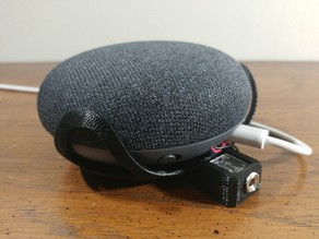 Google Home Mini Wall Mount With 1/4 Inch Headphone Jack Mod