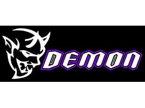 Dodge Demon sign badge