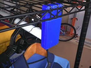 Hanger Rod mount for Wire Rack Shelving