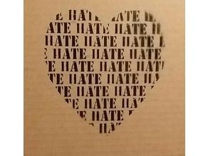 "Spray Paint Template ""HATE HEART"""