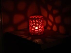 Voronoi tealight candle holder