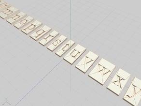 FreeSerif Block Typeset Font
