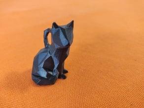 Low Poly Sitting Cat keychain
