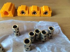 Blocks for oil less bronze bearing bush for Prusa I3