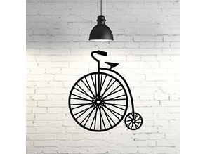 Velocipede I Old Bicycle wall sculpture 2D