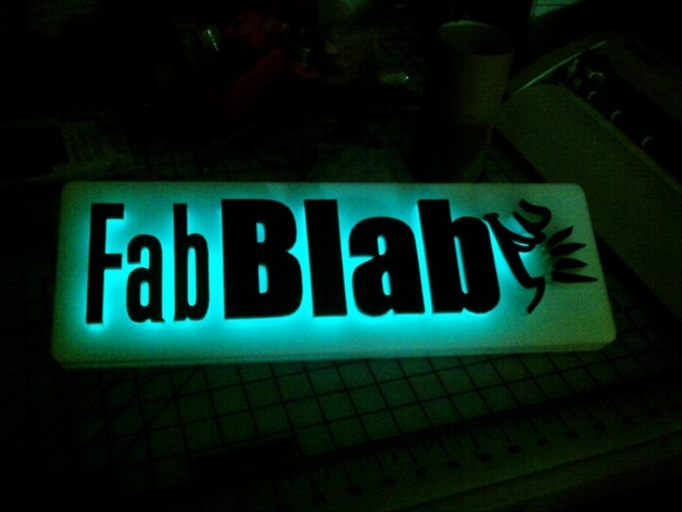 Back-Lit Sign (EL-Wire) by freakinhuge - Thingiverse