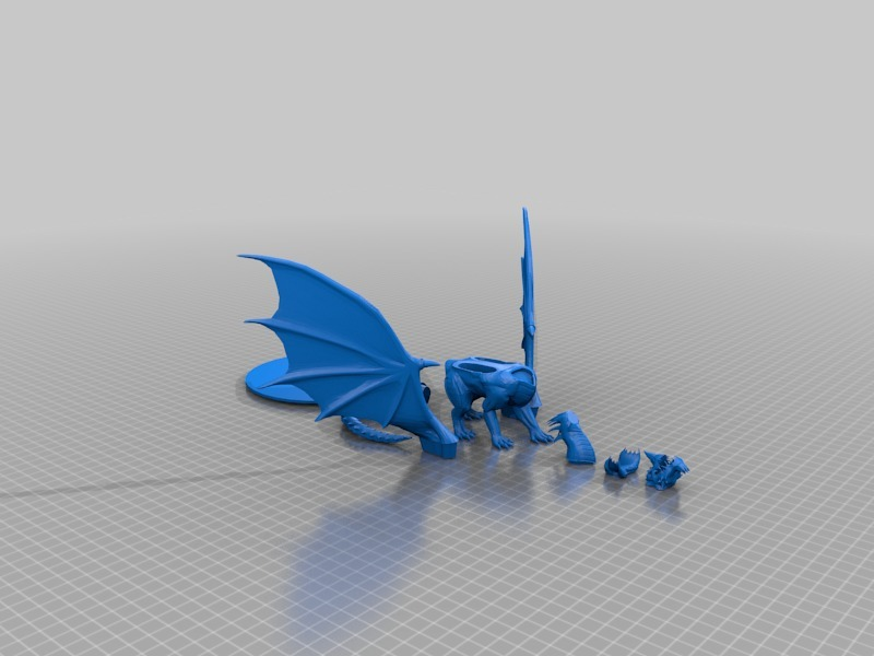 Blue Dragon by mz4250 - Thingiverse