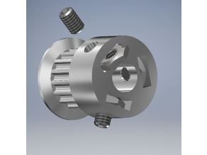 GT2 16T Timing Pulley (5mm shaft) with triple set screw (not suitable for CNC)